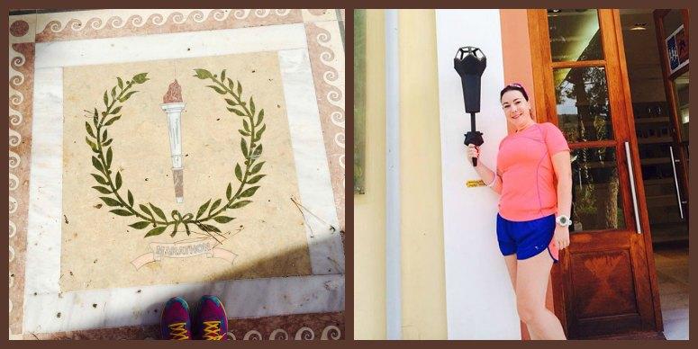 הכניסה למוזיאון הריצה בעיר מרתון ביוון