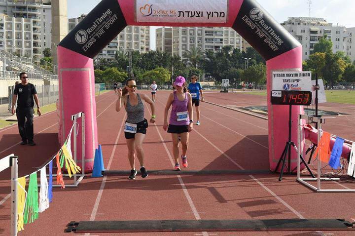 מרוץ טרשת נפוצה סיום. צילום: חגי פנקר